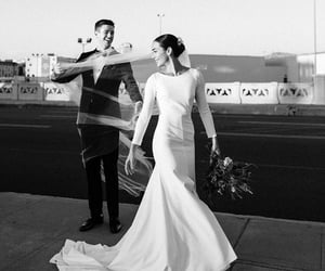 wedding, grant gustin, and black and white image
