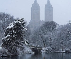Central Park and snow image