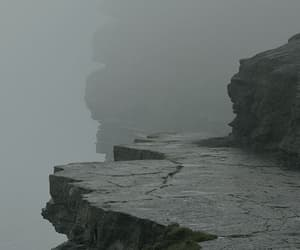cliffs, color, and gray image