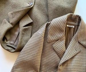 beige, blazer, and checkered image