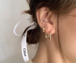 brown, earrings, and gold image