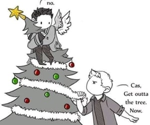 supernatural, deanwinchester, and feliznavidad image