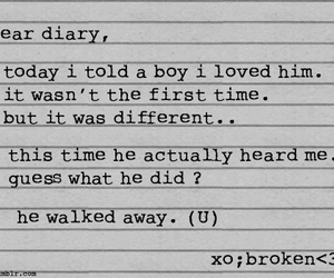 broken, diary, and quote image