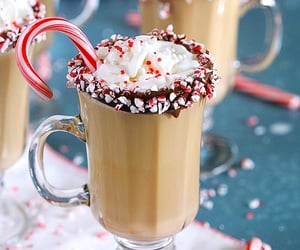candy, coffee, and festive image