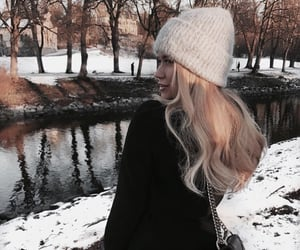 girl, vogue, and winter image