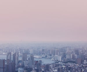 city, sky, and japan image