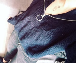 black jeans, lacoste, and outfit image