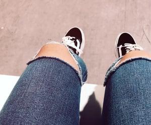 denim, vans shoes, and jeans image