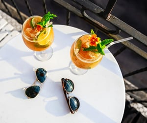 drink, summer, and sunglasses image