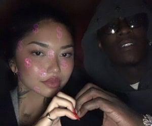 black, couple, and gang image