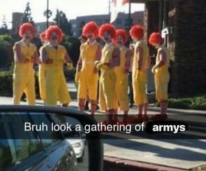 army, clown, and meme image