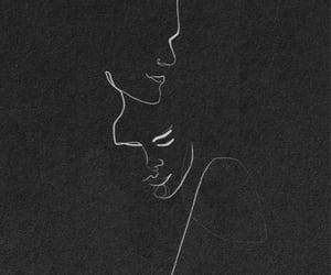 art, black, and couple image