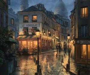 art, city, and paris image