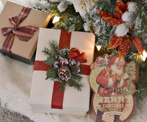 christmas, lights, and gift image