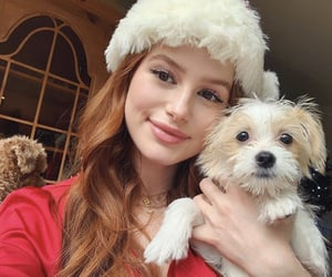 madelaine petsch, dog, and riverdale image