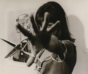 anna karina, pierrot le fou, and scissors image