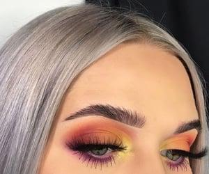 beautiful eyes, make up, and eye image