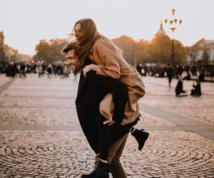 autumn, couple, and dreams image