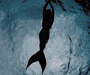 mermaid, ocean, and blue image