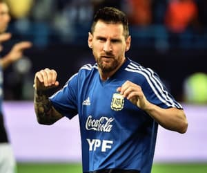 argentina, soccer, and messi image