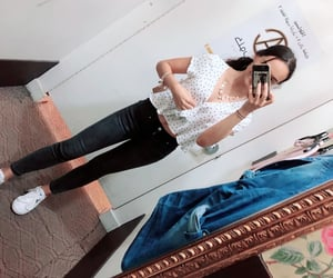 black jeans, petite, and top image