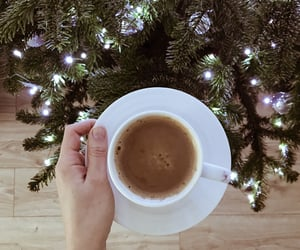 coffee, merry, and xmas image