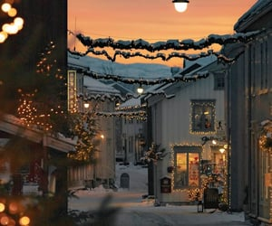 winter, christmas, and lights image
