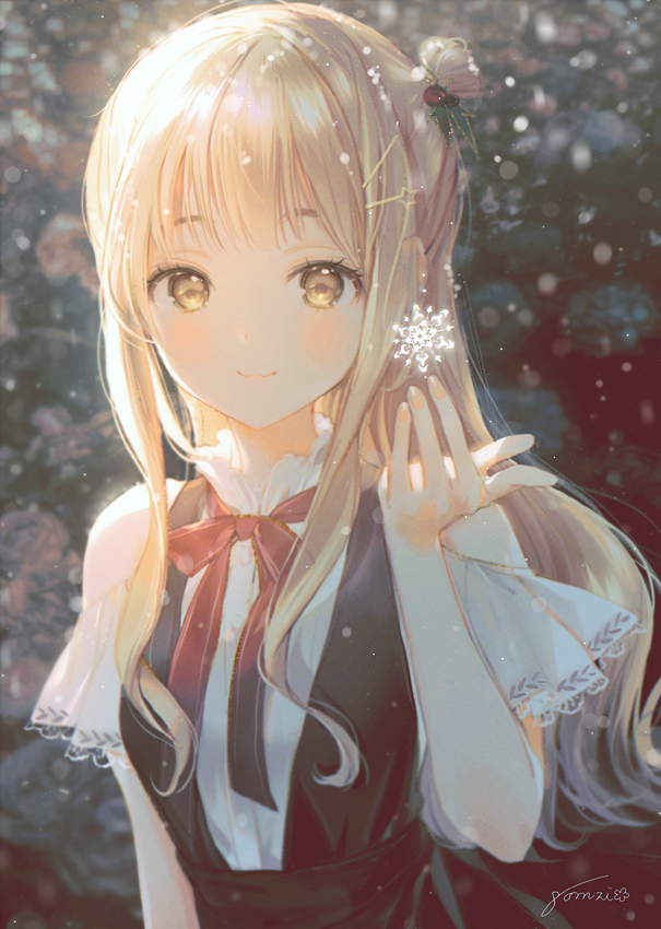 Anime Black Cute Girl Art By Gomzi Https Twitter Com Gcmzi Status 1209768345089794049 Christmas Winter And Snow Fashion And Style Cute And Kawaii Lovely Twitter And Tumblr Ilustration And Artwork