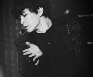 black and white, kpop, and stage image