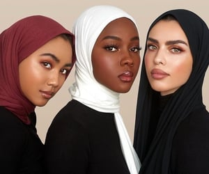 Beautiful Girls, hijab, and muslim image