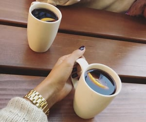 coffee, nails, and wine image