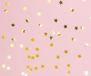 gold, pink, and stars image