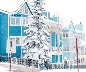architecture, blue, and snow image