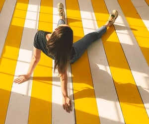 aesthetic, stripes, and yellow image