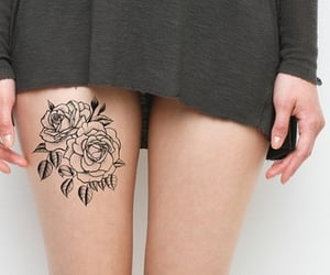 flower tattoo, girl, and goal image