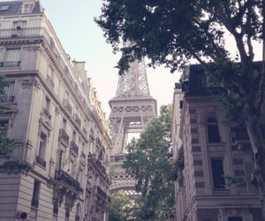 city, eiffeltower, and paris image