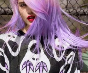 alternative, purple hair, and model image