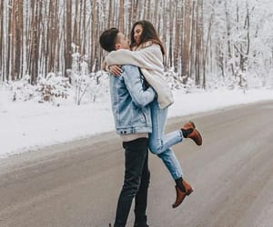 autumn, beauty, and couple image
