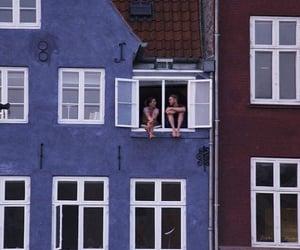 love, couple, and window image