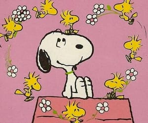 animation, in love, and snoopy image