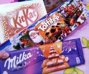 candies, chocolate, and christmas image