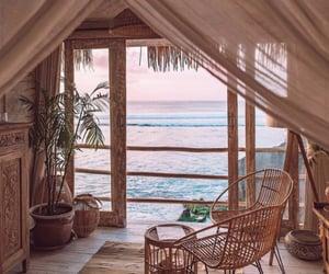 home, beach, and sea image