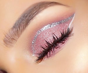 eyes, make up, and pink image