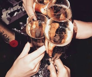 drink, champagne, and party image