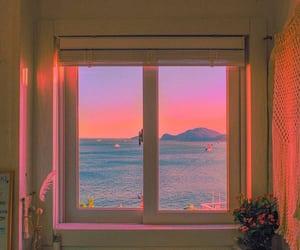 aesthetic, sunset, and window image