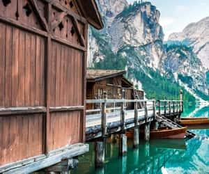 mountains and lake image