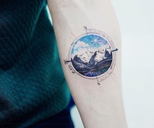 cool, tattoo, and love image