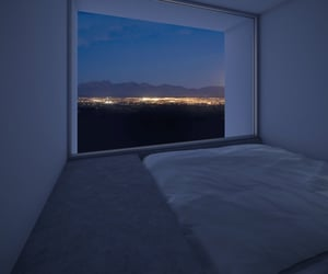 bed, night, and city image