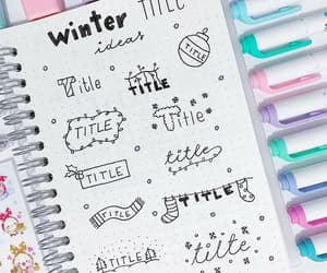 art, winter, and bullet journal image