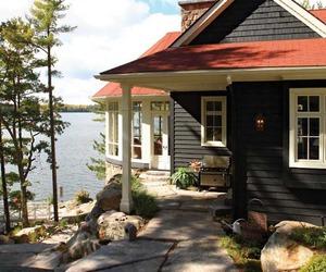 house and lake house image